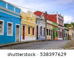 the historic streets of olinda... | Shutterstock . vector #538397629