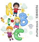 abc children   vector | Shutterstock .eps vector #53840056