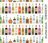seamless pattern with alcohol... | Shutterstock .eps vector #538400929