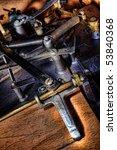 antique mechanism with springs...   Shutterstock . vector #53840368