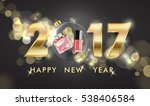 2017 happy new year background. ... | Shutterstock .eps vector #538406584