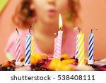 Close Up View Of Birthday Cake...