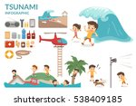 tsunami survival guide. big... | Shutterstock .eps vector #538409185