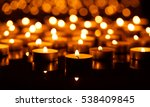 many burning candles with... | Shutterstock . vector #538409845