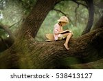 a pretty little blonde girl in... | Shutterstock . vector #538413127