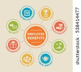 employee benefits. concept with ... | Shutterstock .eps vector #538414477