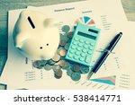 piggy bank with business stuff  ... | Shutterstock . vector #538414771