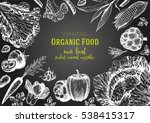vegetables top view frame.... | Shutterstock .eps vector #538415317