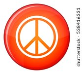 sign hippie peace icon in red... | Shutterstock .eps vector #538416331