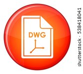 file dwg icon in red circle...