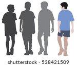 boys silhouette isolated | Shutterstock .eps vector #538421509