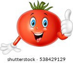 cartoon tomato giving thumbs up | Shutterstock .eps vector #538429129