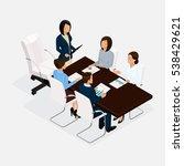 isometric people  businessmen... | Shutterstock .eps vector #538429621