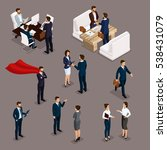 isometric people isometric... | Shutterstock .eps vector #538431079