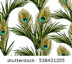 beautiful seamless vector... | Shutterstock .eps vector #538431205