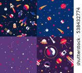 space seamless patterns samples ... | Shutterstock . vector #538432774