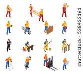 builders work at construction... | Shutterstock . vector #538433161