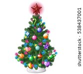 christmas tree with colorful... | Shutterstock .eps vector #538437001