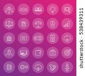 venture capital line icons set  ... | Shutterstock .eps vector #538439311