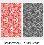 set of floral geometric... | Shutterstock .eps vector #538439935