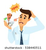 angry boss berates his employee ... | Shutterstock .eps vector #538440511