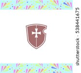 shield vector icon on white... | Shutterstock .eps vector #538441675