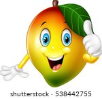 cartoon mango giving thumbs up | Shutterstock .eps vector #538442755