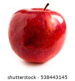 glossy dark red apple isolated | Shutterstock . vector #538443145