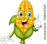 cartoon corn giving thumbs up | Shutterstock .eps vector #538445269