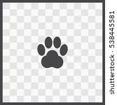 paw vector icon. isolated... | Shutterstock .eps vector #538445581