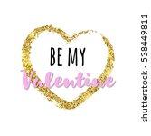 gold glitter heart with...   Shutterstock .eps vector #538449811
