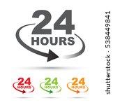 twenty four hours around the...   Shutterstock .eps vector #538449841