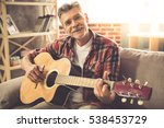 handsome mature man in casual... | Shutterstock . vector #538453729