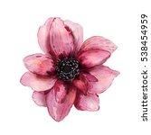 Pink Watercolor Flower  Hand...