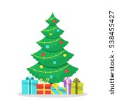 christmas background with... | Shutterstock . vector #538455427