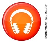 headphones icon in red circle... | Shutterstock .eps vector #538458319