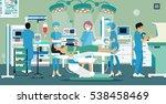 doctors and nurses were... | Shutterstock .eps vector #538458469