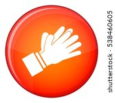clapping applauding hands icon... | Shutterstock .eps vector #538460605