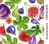 Seamless Pattern Of Purple And...