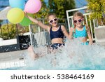 two happy children with... | Shutterstock . vector #538464169