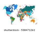 political world map vector... | Shutterstock .eps vector #538471261