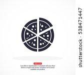 pizza vector icon | Shutterstock .eps vector #538471447