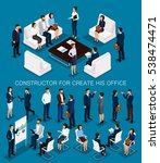 business people isometric set... | Shutterstock .eps vector #538474471