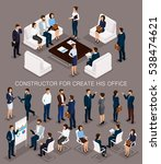 business people isometric set... | Shutterstock .eps vector #538474621