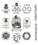 set of vintage gentleman... | Shutterstock .eps vector #538475695