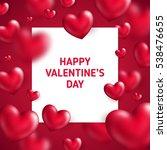 valentine's day concept. vector ... | Shutterstock .eps vector #538476655
