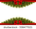 christmas border on a white... | Shutterstock .eps vector #538477021