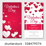 valentines day vertical banners.... | Shutterstock .eps vector #538479574