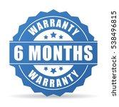 6 months warranty vector icon... | Shutterstock .eps vector #538496815