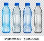 set of transparent plastic... | Shutterstock .eps vector #538500031